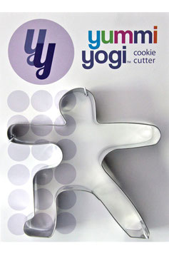 "YUMMI YOGI - SUPERGROSSE (XXL) AUSSTECHFORM ""WARRIOR 2 POSE - VIRABHADRASANA II"" COOKIE CUTTER"
