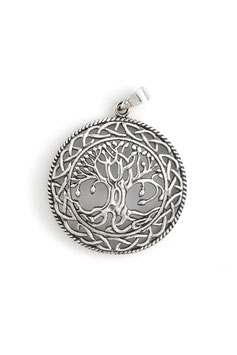 "SPIRITUAL TRIBE - ANHÄNGER ""TREE OF LIFE"" Ø 34 mm - SILBER 925"