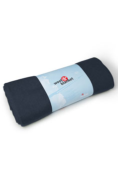 "MANDUKA - YOGADECKE  ""WOOL BLANKET - MIDNIGHT"""