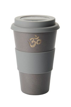 "COFFEE-TO-GO BECHER ""OM"" SCHWARZ"