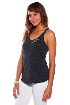 "BE LOVE – TANK TOP ""DO SMALL THINGS WITH GREAT LOVE"" ECO BLACK"
