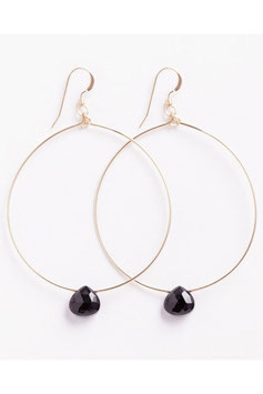 "WANDERLUSTLIFE - OHRRING ""LARGE TUSCANY HOOP - BLACK SPINEL"""