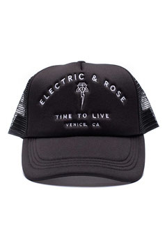 "ELECTRIC & ROSE – HAT ""TIME TO LIVE"" BLACK"