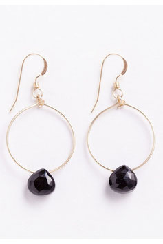 "WANDERLUSTLIFE - OHRRING ""MINI TUSCANY HOOP - BLACK SPINEL"""