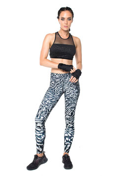 "DHARMABUMS - LEGGING ""ATMOSPHERIC STORM"" HIGH WAIST, FULL LENGTH"