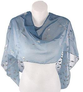 Schal blau/grau Viskose