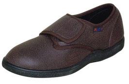 Damen Stretch-Textilleder Schuh braun