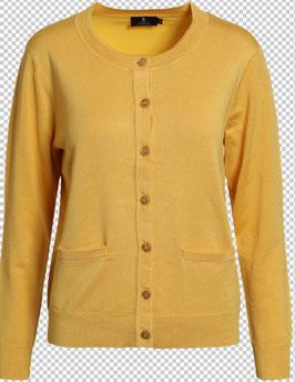 Damen Strickjacke gelb mit Taschen