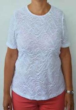 Damen Shirt weiss Struktur