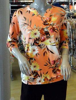 Damen Shirt orange blumig