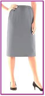 Damenschlupfrock grau