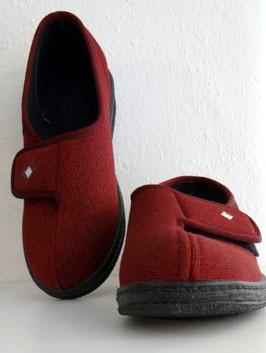 Klettschuh Velours rot