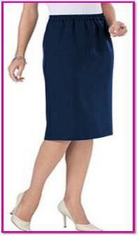 Damenschlupfrock blau