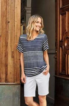 Damen Shirt blau/weiss