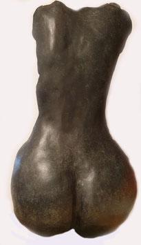Bronze patiné l 43 cm x h 62 CM. Bronze patiné l24cm x h 39cm.