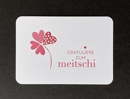 """Art. 21.002 / """"Gratuliere zum Meitschi"""""""