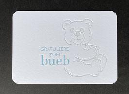 "Art. 21.001 / ""Gratuliere zum Bueb"""