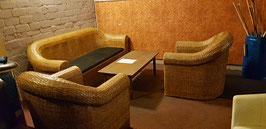 Rattan Sitzgruppe mit 2 Hocker gebraucht -020720191