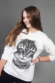 "Sweatshirt ""Cat Face"""