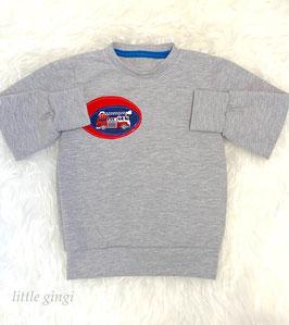 Shirt langarm grau Feuerwehr