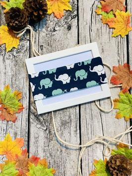 Stirnband Elefantenparade dunkelblau