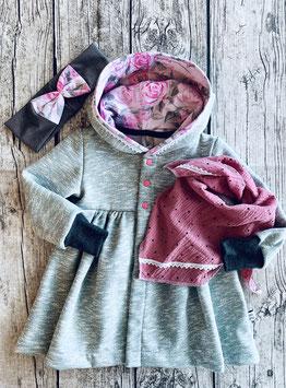 Mantel gerafft mint Rosen