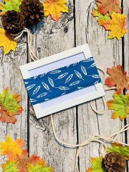 Stirnband Blätter blau