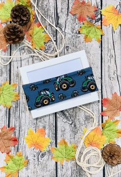 Stirnband Traktor dunkelblau