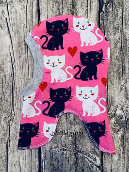Schlupfhaube Katzen rosa