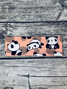 Stirnband Panda lachs