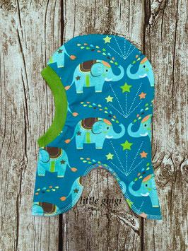Schlupfhaube Elefant blau