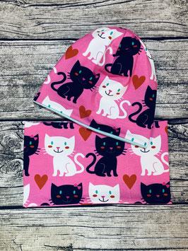 Set Katze rosa