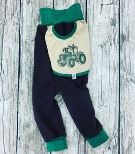 Traktor Taschenhose grün