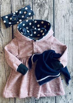 Mantel gerafft rosa Punkte