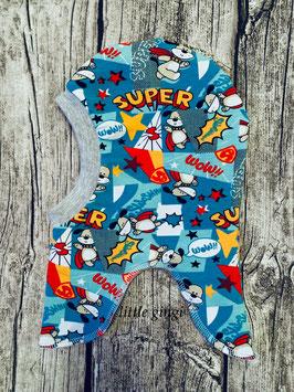 Schlupfhaube Superdog blau