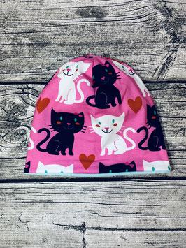 Beanie Katzen rosa