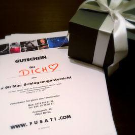 Geschenkgutschein 3 x 60 Minuten