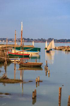 TABLEAU PHOTO PVC/FOREX Entrée des bateaux à la voile au  port de Kercabellec .