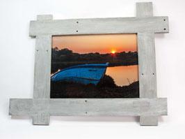 Cadre photo en Bois - Coucher du soleil à Kercabellec