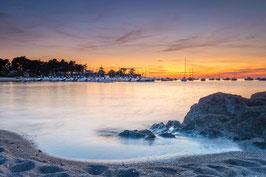 Coucher de Soleil sur  le port du Toulru , Photographie sur Alu Dibond 40*60cm