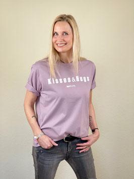 """T-Shirt """"Kisses&Hugs"""" in 2 Farben / 100 % Biobaumwolle"""