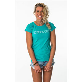 Mystic Brand Tee Women Pacific Green