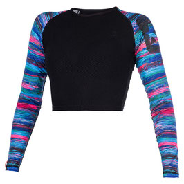 Mystic Dazzled L/S Croptop Women in Purple / Rainbow