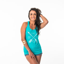 Mystic Facile Singlet in Pacific Green