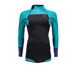 Brunotti Defence Longarm Shorty 3/2 D/L Women Wetsuit in Mint / Purple