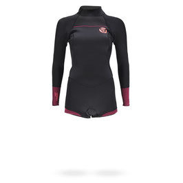 Brunotti Defence Longarm Shorty 3/2 D/L Women Wetsuit in Black/Coral