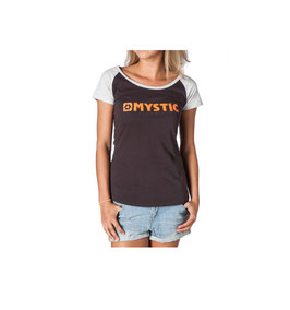 Mystic M- Strip Tee Women Phantom Grey