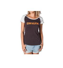 Mystic M- Strip Tee Women Phantom Grey