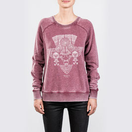 Mystic Diverge Sweat in Burgy Red