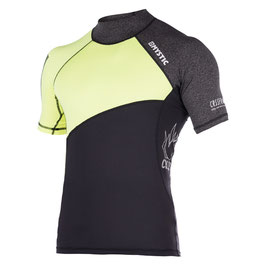 Mystic Crossfire Rash Vest S/S Lime